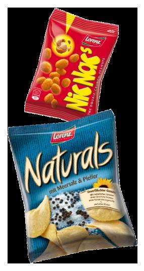 Lorenz Chips, Snack-Bär, Naschen für zu Hause