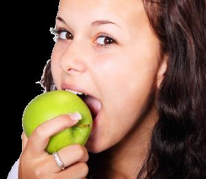 Apfel Frau Obstkorb